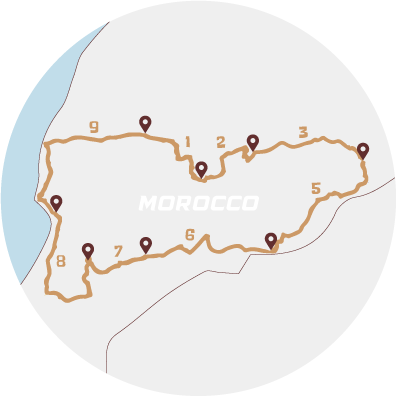 Map of the challenge